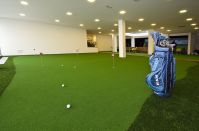 Putting green and indoor